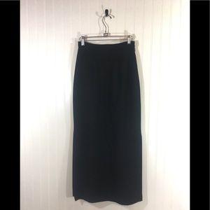 Valerie Stevens Pure Wool High Waist Maxi Skirt